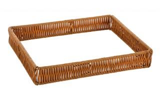 Рамка пластиковая под гастроемкость GN1/2 310х250х50 мм коричневая [Beige ST-006]
