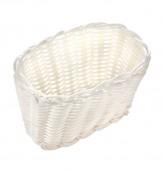 Корзинка пластиковая 160х100х100 мм белая [White 3560]